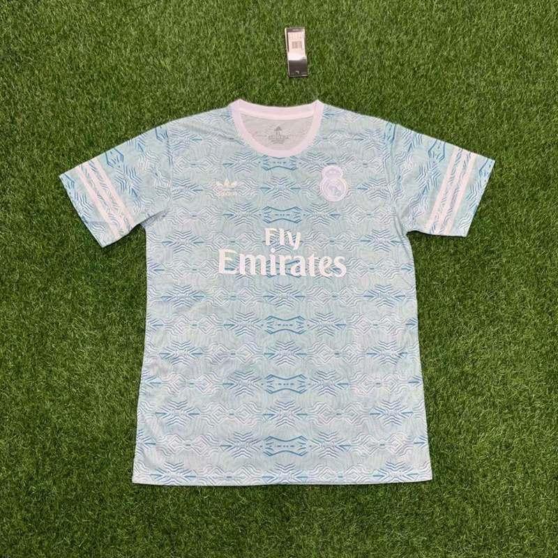 AAA(Thailand) Real Madrid 21/22 Light Blue Soccer Jersey