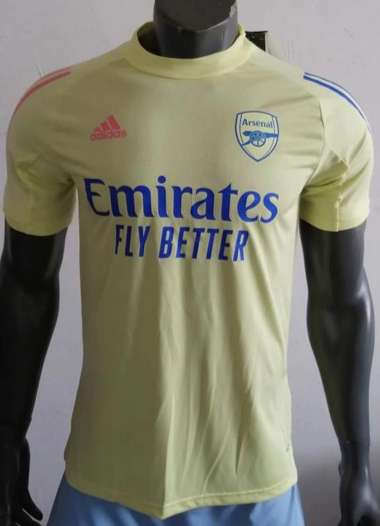 AAA(Thailand) Arsenal 20/21 Training Yellow Soccer Jersey (Play)