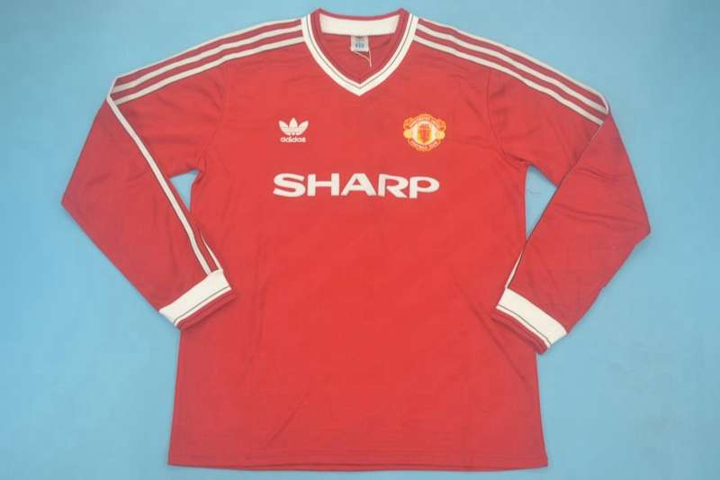 AAA(Thailand) Manchester United 1986/88 Home Retro Long Jersey