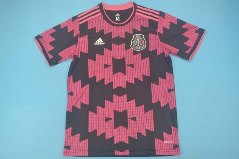 AAA(Thailand) Mexico 2020 Pink Black Soccer Jersey