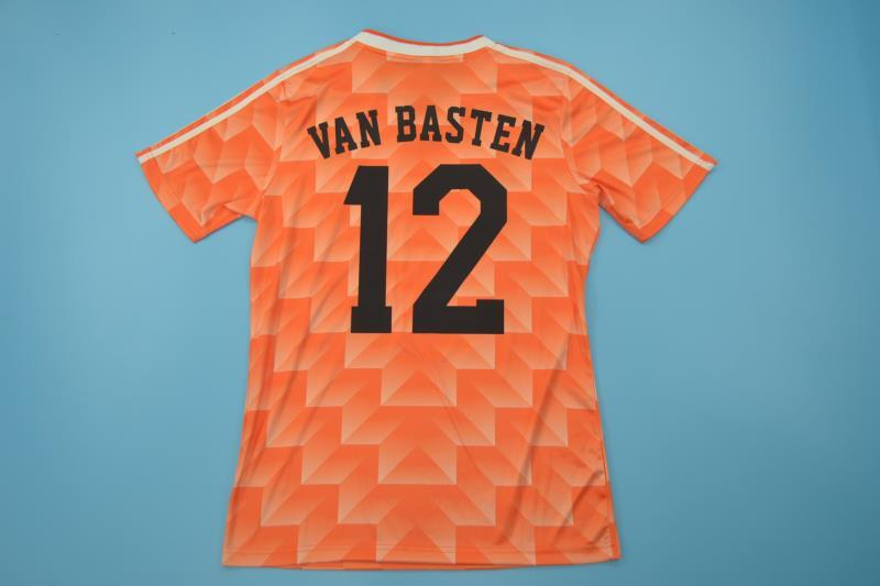 AAA(Thailand) Netherlands 1988 Home Retro Soccer Jersey