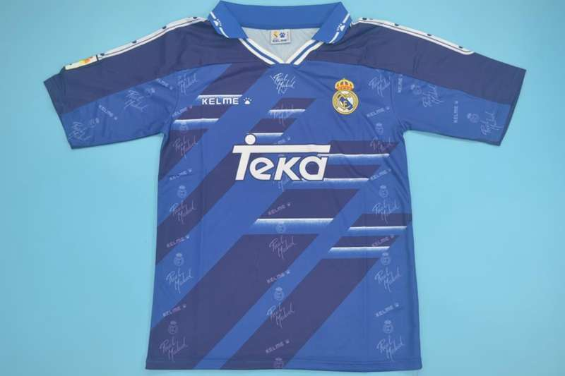 AAA(Thailand) Real Madrid 94/96 Retro Away Soccer Jersey
