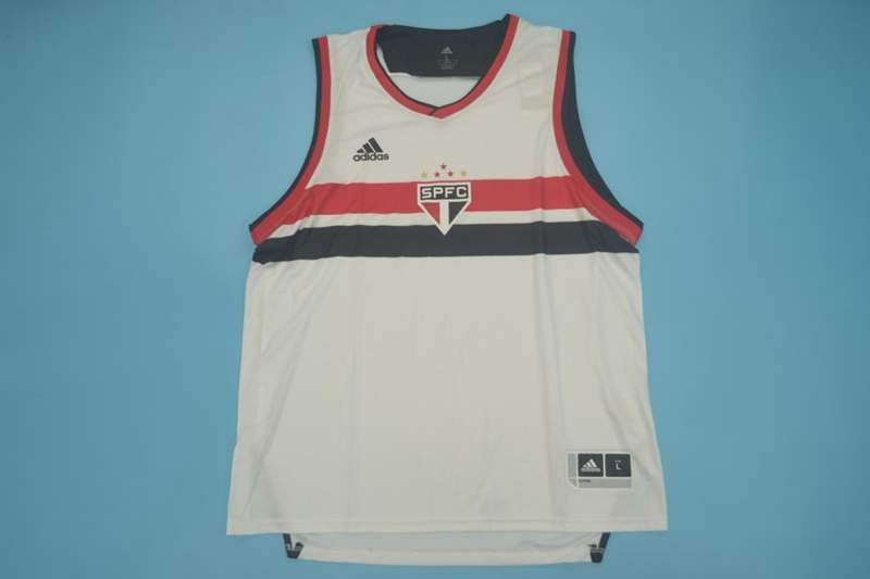 AAA(Thailand) Sao Paulo 2020 Home Vest Soccer Jersey